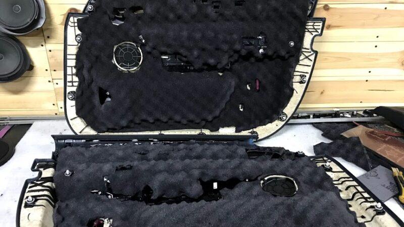Изображение шумоизоляции дверей автомобиля
