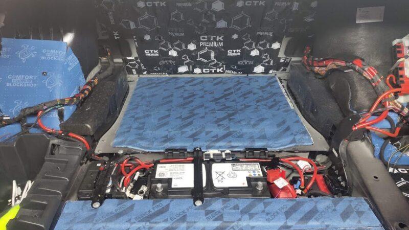 Установка шумоизоляции в багажник